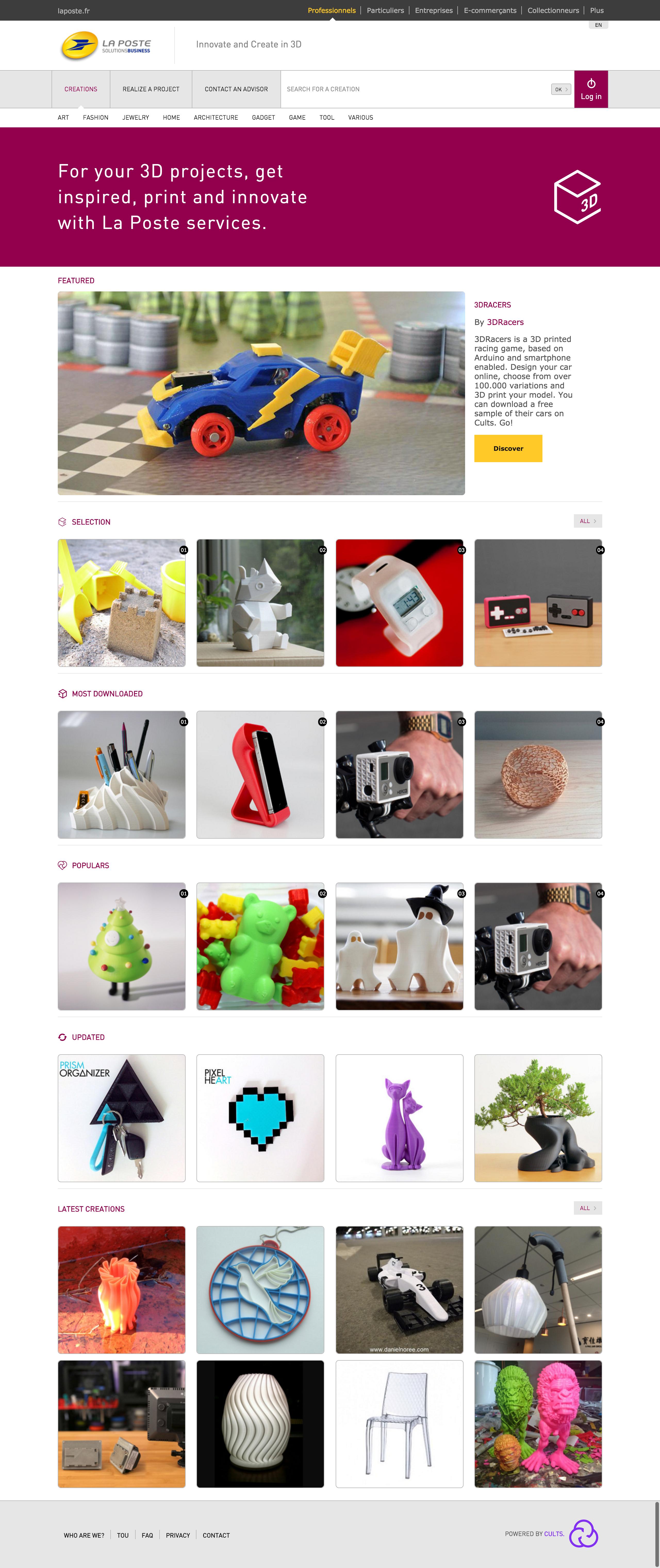 2 La Poste Home Page ・ Download free 3D models for 3D printers