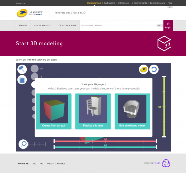 4 Start 3D modeling ・ La Poste